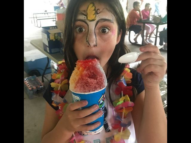 Face painting and ice fun